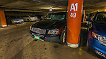 28 March 2014: My Volvo XC90 is parked in a sold-out underground garage, as a crowd of 46,121 enjoy a pre-season exhibition game between the Toronto Blue Jays and the New York Mets at Olympic Stadium, in Montreal, Quebec. The Blue Jays then broke a 4-4 deadlock in the bottom of the 9th to edge out the Mets 5-4 in the first MLB game in Montreal since September 29, 2004. Mandatory Credit: Ed Wolfstein Photo *** RAW (NEF) Image File Available ***