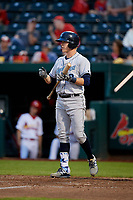 Corpus Christi Hooks designated hitter Trent Woodward (3) at bat during a game against the Springfield Cardinals on May 31, 2017 at Hammons Field in Springfield, Missouri.  Springfield defeated Corpus Christi 5-4.  (Mike Janes/Four Seam Images)