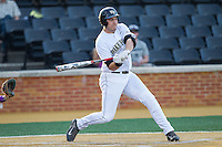 Matt Conway (25) of the Wake Forest Demon Deacons at bat against the High Point Panthers at Wake Forest Baseball Park on April 2, 2014 in Winston-Salem, North Carolina.  The Demon Deacons defeated the Panthers 10-6.  (Brian Westerholt/Four Seam Images)