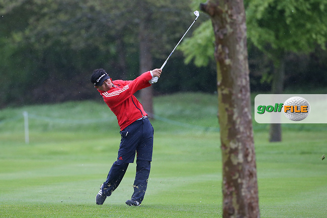 Y.E. Yang (KOR) plays second shot to the 9th during Round One of the 2016 Dubai Duty Free Irish Open Hosted by The Rory Foundation which is played at the K Club Golf Resort, Straffan, Co. Kildare, Ireland. 19/05/2016. Picture Golffile | David Lloyd.<br /> <br /> All photo usage must display a mandatory copyright credit as: &copy; Golffile | David Lloyd.