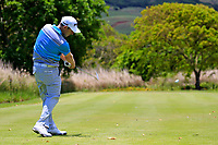 Peter Karmis (RSA) in action during the second round of the Afrasia Bank Mauritius Open played at Heritage Golf Club, Domaine Bel Ombre, Mauritius. 01/12/2017.<br /> Picture: Golffile | Phil Inglis<br /> <br /> <br /> All photo usage must carry mandatory copyright credit (&copy; Golffile | Phil Inglis)