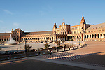The Plaza de España, Seville, Spain built in 1928 for the Ibero-American Exposition of 1929.
