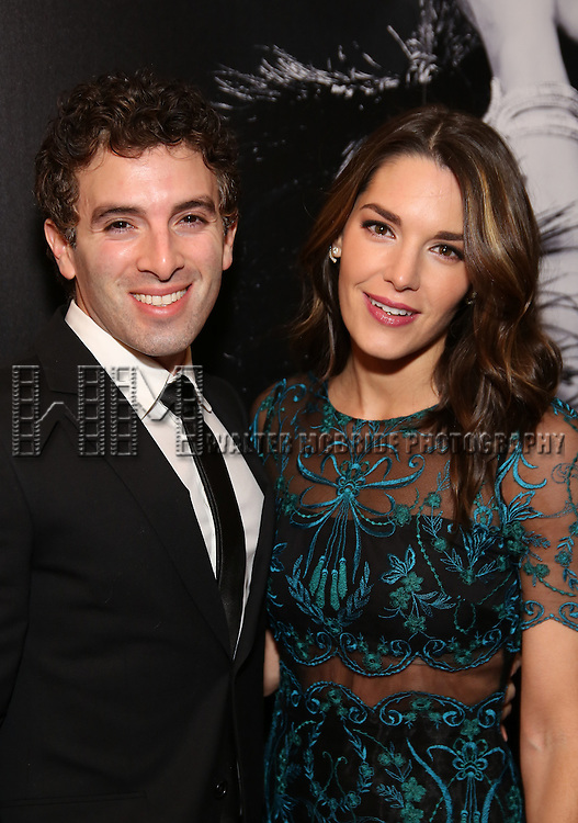 Jarrod Spector and Kelly Barrett attend the Broadway Opening Night of Sunset Boulevard' at the Palace Theatre Theatre on February 9, 2017 in New York City.