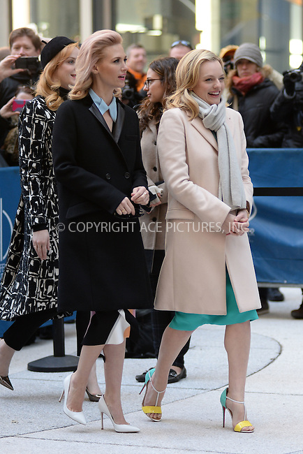 WWW.ACEPIXS.COM<br /> March 23, 2015 New York City<br /> <br /> Elisabeth Moss and January Jones attending the 'Mad Men' art installation Unveiling at Time &amp; Life Building on March 23, 2015 in New York City. <br /> <br /> Please byline: Kristin Callahan/AcePictures<br /> <br /> ACEPIXS.COM<br /> <br /> Tel: (646) 769 0430<br /> e-mail: info@acepixs.com<br /> web: http://www.acepixs.com