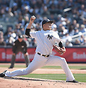 Masahiro Tanaka (Yankees),<br /> APRIL 6, 2015 - MLB : Masahiro Tanaka of the New York Yankees.<br /> opening day of the Major League Baseball game against the Toronto Blue Jays at Yankee Stadium in Bronx, NY, United States.<br /> (Photo by AFLO)