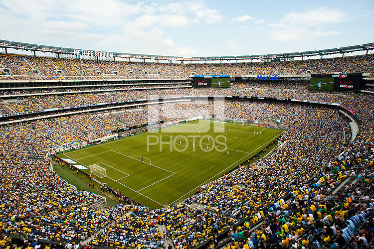 81,994 people watch the match. Argentina defeated Brazil 4-3 in an international friendly at MetLife Stadium in East Rutherford, NJ, on June 9, 2012.