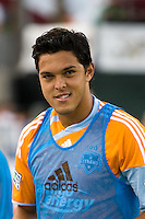 Houston Dynamo forward Luis Angel Landin (7) makes his debut in a Houston Dynamo uniform.  Houston Dynamo tied Seattle Sounders 1-1 on August 23, 2009 at Robertson Stadium in Houston, TX.