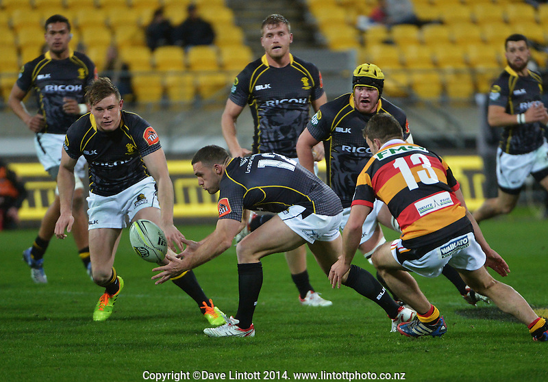 Shaun Treeby in action during the ITM Cup rugby union match between Wellington Lions and Waikato at Westpac Stadium, Wellington, New Zealand on Saturday, 16 August 2014. Photo: Dave Lintott / lintottphoto.co.nz