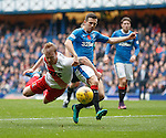 Jason Holt brought down by Stevie Smith for a penalty