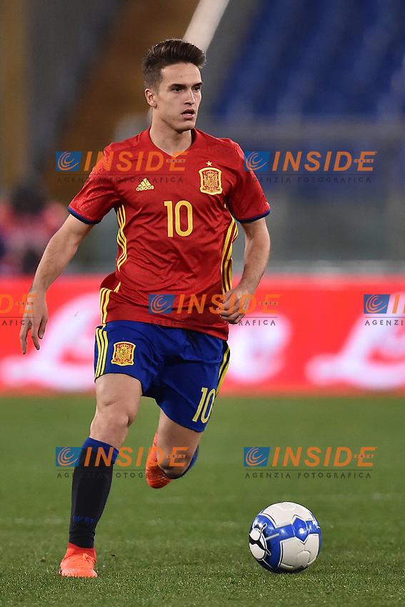 Denis Suarez Spagna <br /> Roma 27-02-2017, Stadio Olimpico<br /> Football Friendly Match  <br /> Italy - Spain Under 21 Foto Andrea Staccioli Insidefoto