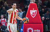 22nd March 2018, Aleksandar Nikolic Hall, Belgrade, Serbia; Turkish Airlines Euroleague Basketball, Crvena Zvezda mts Belgrade versus Fenerbahce Dogus Istanbul; Guard Taylor Rochestie of Crvena Zvezda mts Belgrade in action