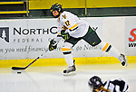 8 February 2009: University of Vermont Catamounts' forward Celeste Doucet, a Sophomore from Memramcook, New Brunswick, in action against the University of New Hampshire Wildcats in the second game of a weekend series at Gutterson Fieldhouse in Burlington, Vermont. The Wildcats defeated the lady Catamounts 6-2 to sweep the 2-game series. Mandatory Photo Credit: Ed Wolfstein Photo
