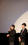 "December, 19th : Tokyo, Japan – (L-R) Je-Kyu Kang and Joe Odagiri appear at a press conference for the film ""MY WAY"" in the Shinjuku WALD9 CINEMA. This story is based on a true story during the World War Ⅱ. This film will be released from January 14th. (Photo by Yumeto Yamazaki/AFLO)."