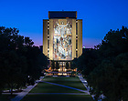 July 12, 2020; Hesburgh Library Word of Life mural, commonly known as Touchdown Jesus (Photo by Matt Cashore/University of Notre Dame)