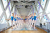Gen&eacute;e International Ballet Competition 2015 candidates from around the world pose on Tower Bridge, London, Great Britain <br /> 18th September 2015 <br /> prior to the finals day on 19th September 2015 at Sadler's Wells, London, Great Britain. <br /> <br /> <br /> <br /> Photograph by Elliott Franks <br /> Image licensed to Elliott Franks Photography Services