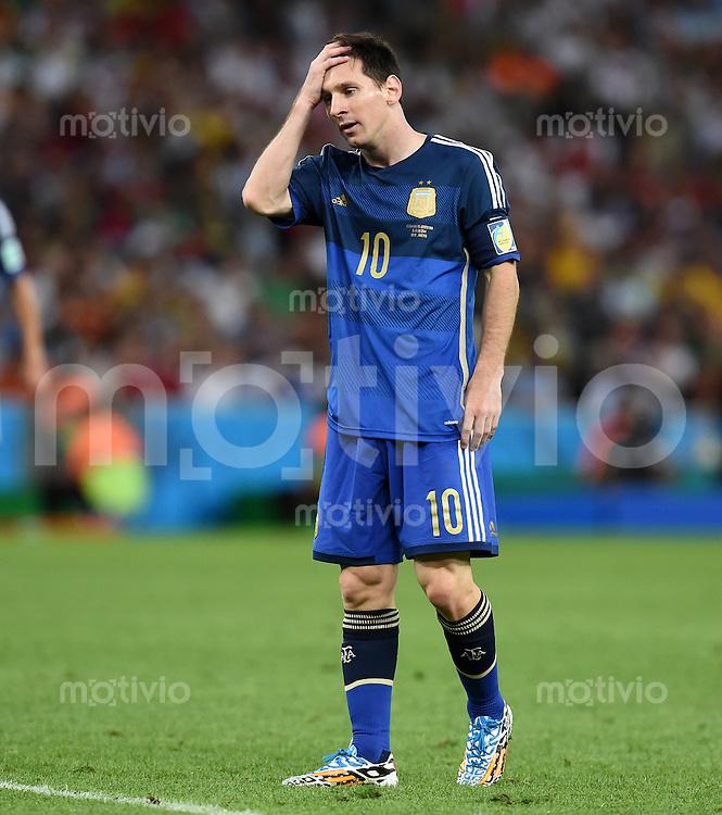 FUSSBALL WM 2014                FINALE Deutschland - Argentinien     13.07.2014 Lionel Messi (Argentinien)