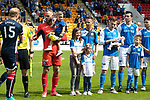 St Johnstone v Ross County…12.05.18…  McDiarmid Park    SPFL<br />Alan Mannus and son Mason line up<br />Picture by Graeme Hart. <br />Copyright Perthshire Picture Agency<br />Tel: 01738 623350  Mobile: 07990 594431