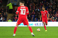 Neil Taylor of Wales in action during the UEFA Euro 2020 Qualifier match between Wales and Azerbaijan at the Cardiff City Stadium in Cardiff, Wales, UK. Friday 06, September 2019