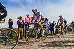 Marcus BURGHARDT from Germany and World Champion Peter Sagan (SVK) of Bora-Hansgrohe at the 4 star cobblestone sector 17 from Hornaing to Wandignies during the 2018 Paris-Roubaix race, France, 8 April 2018, Photo by Thomas van Bracht / PelotonPhotos.com | All photos usage must carry mandatory copyright credit (Peloton Photos | Thomas van Bracht)