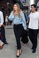 www.acepixs.com<br /> <br /> August 3 2017, New York City<br /> <br /> Actress Elizabeth Olsen made an appearance at The Late Show on August 3 2017 in New York City<br /> <br /> By Line: Nancy Rivera/ACE Pictures<br /> <br /> <br /> ACE Pictures Inc<br /> Tel: 6467670430<br /> Email: info@acepixs.com<br /> www.acepixs.com