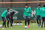 11.02.2020, Trainingsgelaende am wohninvest WESERSTADION,, Bremen, GER, 1.FBL, Werder Bremen Training, im Bild<br /> <br /> Ludwig Augustinsson (Werder Bremen #05)<br /> Marco Friedl (Werder Bremen #32)<br /> <br /> <br /> Foto © nordphoto / Kokenge