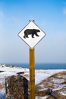 Polar Bear warning sign in Churchill