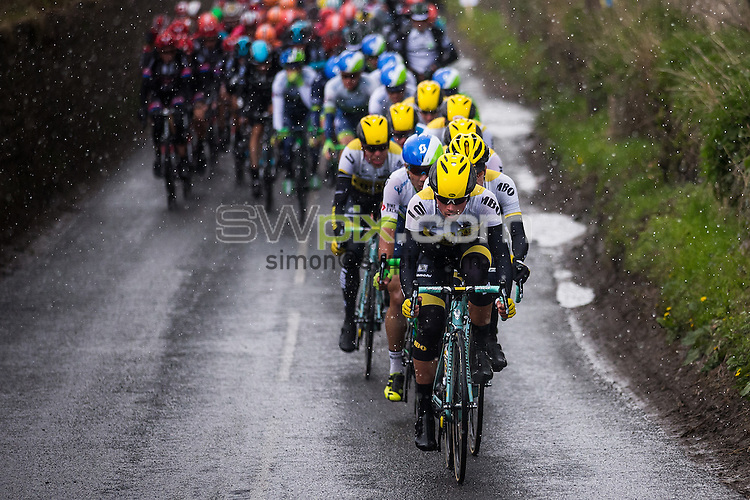 Picture by Alex Whitehead/SWpix.com - 30/04/2016 - Cycling - Tour de Yorkshire, Stage 2: Otley to Doncaster - Yorkshire, England - Lotto NL Jumbo lead the peloton.