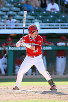 Dusty Robinson, Fresno State Bulldogs, playing against Hawaii in the championship game of the Western Athletic Conference tournament at Hohokam Park, Mesa, AZ - 05/30/2010. Hawaii won, 9-6, to capture its first league championship in 18 years..Photo by:  Bill Mitchell/Four Seam Images.