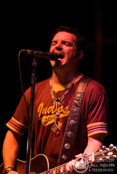 Willie Braun, lead singer of the Austin, Texas based band Reckless Kelly, performs during Mayfest at LaGrave Field in Fort Worth, Texas on July 12, 2009. ..The July concert was a makeup event after the original festival was canceled amid fears concerning the H1N1 (swine) influenza (Swine flu) outbreak.