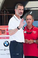 King of Spain Felipe VI arrives to nautical club