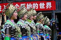 Grupo de dança folclórica chinesa em Liuzhou. China. 2007. Foto de Flãvio Bacellar.