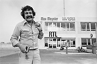 "11 Aug 1977, Paris, France --- French TV and radio presenter Max meynier, well known for his show ""Les routiers sont sympas"", on RTL. --- Image by © JP Laffont"