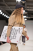 Collection by Emma Robertson from UCLAN, University of Central Lancashire. Graduate Fashion Week 2014, Runway Show at the Old Truman Brewery in London, United Kingdom. Photo credit: Bettina Strenske