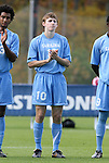 12 November 2008: UNC's Billy Schuler. The University of Maryland defeated the University of North Carolina 1-0 at Koka Booth Stadium at WakeMed Soccer Park in Cary, NC in a men's ACC tournament quarterfinal game.