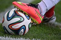 FUSSBALL WM 2014  VORRUNDE    Gruppe H     Belgien - Algerien                       17.06.2014 Offizieller Adidas Spielball Brazuca im Eckkreis