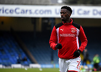 Fleetwod Town's Jordy Hiwula warming up<br /> <br /> Photographer Hannah Fountain/CameraSport<br /> <br /> The EFL Sky Bet League One - Southend United v Fleetwood Town - Saturday 13th January 2018 - Roots Hall - Southend<br /> <br /> World Copyright &copy; 2018 CameraSport. All rights reserved. 43 Linden Ave. Countesthorpe. Leicester. England. LE8 5PG - Tel: +44 (0) 116 277 4147 - admin@camerasport.com - www.camerasport.com