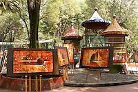 Paintings for sale at the at art show held every Sunday in the Jardin del Arte, Sullivan Park, Mexico City