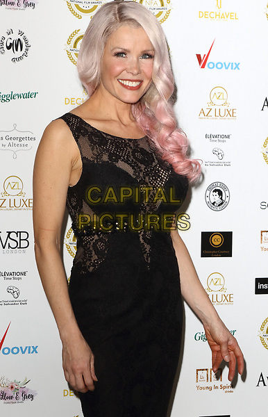 Melinda Messenger at the National Film Awards at the Porchester Hall, London on  Wednesday 28 March 2018 <br /> CAP/ROS<br /> &copy;ROS/Capital Pictures