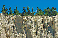 Hoodoos in Badlands. , Invermere, British Columbia, Canada