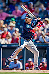 2 March 2019: Minnesota Twins outfielder Jake Cave at bat during a Spring Training game against the Washington Nationals at the Ballpark of the Palm Beaches in West Palm Beach, Florida. The Twins fell to the Nationals 10-6 in Grapefruit League play. Mandatory Credit: Ed Wolfstein Photo *** RAW (NEF) Image File Available ***