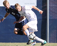 Ian Christianson #6 of Georgetwn University moves the ball past Kyle Soroka #5 of Villanova University during a Big East match at North Kehoe Field, Georgetown University on October16 2010 in Washington D.C. Georgetown won 3-1.