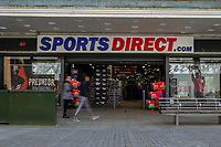 Pictured: A general view of Sports Direct in Swansea City Centre during the Covid-19 Coronavirus pandemic in Wales, UK, Swansea, Wales, UK. Monday 23 March 2020