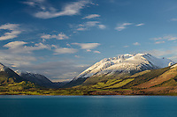 Early morning light on Mt Nicholas, Lake Wakatipu, South Island, New Zealand