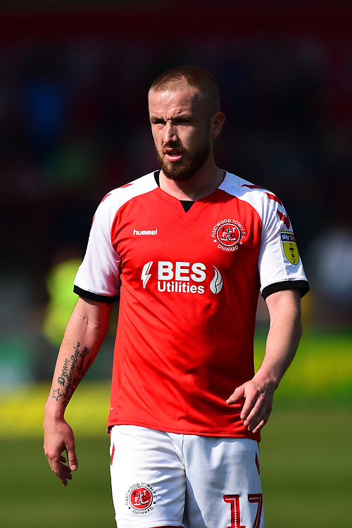 Fleetwood Town's Paddy Madden looks on<br /> <br /> Photographer Richard Martin-Roberts/CameraSport<br /> <br /> The EFL Sky Bet League One - Fleetwood Town v Peterborough United - Friday 19th April 2019 - Highbury Stadium - Fleetwood<br /> <br /> World Copyright © 2019 CameraSport. All rights reserved. 43 Linden Ave. Countesthorpe. Leicester. England. LE8 5PG - Tel: +44 (0) 116 277 4147 - admin@camerasport.com - www.camerasport.com