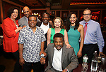 Lynne Meadow, Ruben Santiago-Hudson, Ray Athony Thomas, John Douglas Thompson, , Constanza Romero Wilson, Harvy Blanks, Carra Patterson and Barry Grove attends the 2017 New York Drama Critics' Circle Awards Reception at Feinstein's / 54 Below on 5/18/2017 in New York City.