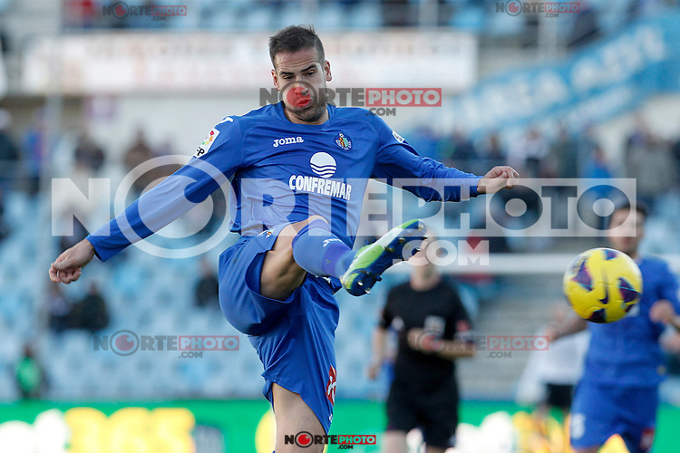 Getafe's Alberto Lopo during La Liga match.December 01,2012. (ALTERPHOTOS/Acero) ©/NortePhoto