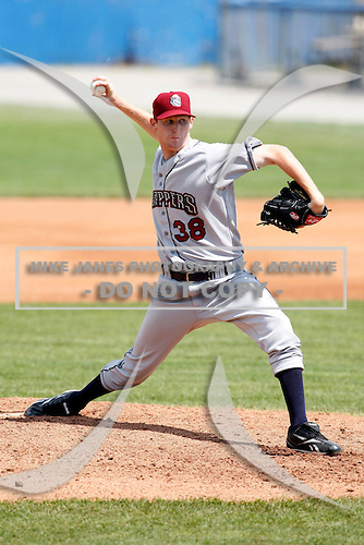 July 28, 2009:  Pitcher Brett Brach of the Mahoning Valley Scrappers during a game at Dwyer Stadium in Batavia, NY.  Mahoning Valley is the NY-Penn League Short-Season Class-A affiliate of the Cleveland Indians.  Photo By Mike Janes/Four Seam Images
