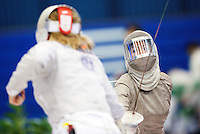 27 FEB 2011 - LONDON, GBR - Britain's Chrystall Nicoll during fencing's England Cup team sabre tournament at  the National Sports Centre at Crystal Palace (PHOTO (C) NIGEL FARROW)