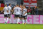 06.09.2019, Volksparkstadion, HAMBURG, GER, EMQ, Deutschland (GER) vs Niederlande (NED)<br /> <br /> DFB REGULATIONS PROHIBIT ANY USE OF PHOTOGRAPHS AS IMAGE SEQUENCES AND/OR QUASI-VIDEO.<br /> <br /> im Bild / picture shows<br /> <br /> Serge Gnabry (Deutschland / GER #20) mit dem 1 zu 0 gegen Jasper CILLESSEN (Niederlande / NED #01)<br /> <br /> Jubel<br /> <br /> während EM Qualifikations-Spiel Deutschland gegen Niederlande  in Hamburg am 07.09.2019, <br /> <br /> Foto © nordphoto / Kokenge