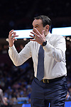 GREENVILLE, SC - MARCH 19: Head coach Mike Krzyzewski of Duke University motions to his team during the 2017 NCAA Men's Basketball Tournament held at Bon Secours Wellness Arena on March 19, 2017 in Greenville, South Carolina. (Photo by Grant Halverson/NCAA Photos via Getty Images)